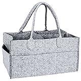 SODIAL Poubelle de stockage de garderie-caddie de couche pour bebe-Sac de rangement des lingettes de garderie-organisateur de couches de panier portable