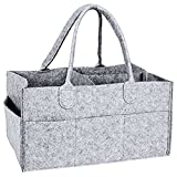 <span class='highlight'><span class='highlight'>SODIAL</span></span> Nursery Storage Bin-Baby Diaper Caddy-Nursery Wipes Storage Bag-Portable Basket nappy organizer