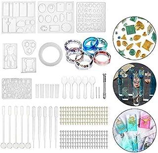 oweite 229pcs Resin Casting Mold Kit Epoxy Jewelry Pendant Silicone DIY Mould Craft Kit