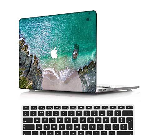 NEWCENT MacBook Pro 13' Funda,Plástico Ultra Delgado Ligero Cáscara Cubierta EU Teclado Cubierta para MacBook Pro 13 Pulgadas con Touch Bar Touch ID(Modelo:A1708/A1706/A1989/A2159),Serie Azul 0216