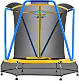 Zupapa Trampoline for Kids with Enclosure Net Basketball Hoop Toddlers...