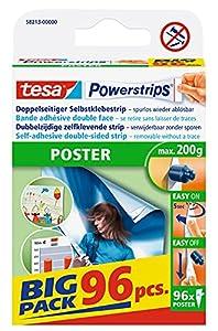 tesa Powerstrips POSTER: Die smarte Befestigungslösung mit der innovativen Powerstrips-Technologie - besonders geeignet für empfindliche und leichte Materialien Die zuverlässige Befestigungsmethode, die Poster, Plakate und ähnliche leichte Objekte si...