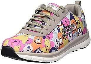 Skechers Women's Comfort Flex Sr Hc Pro Health Care Professional Shoe,gray/multi,7.5 Medium US