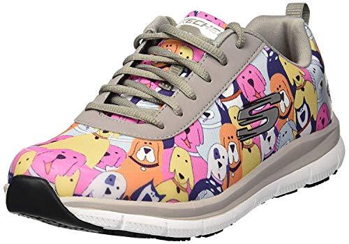 Skechers Women's Comfort Flex Sr Hc Pro Health Care Professional Shoe,gray/multi,8.5 Medium US