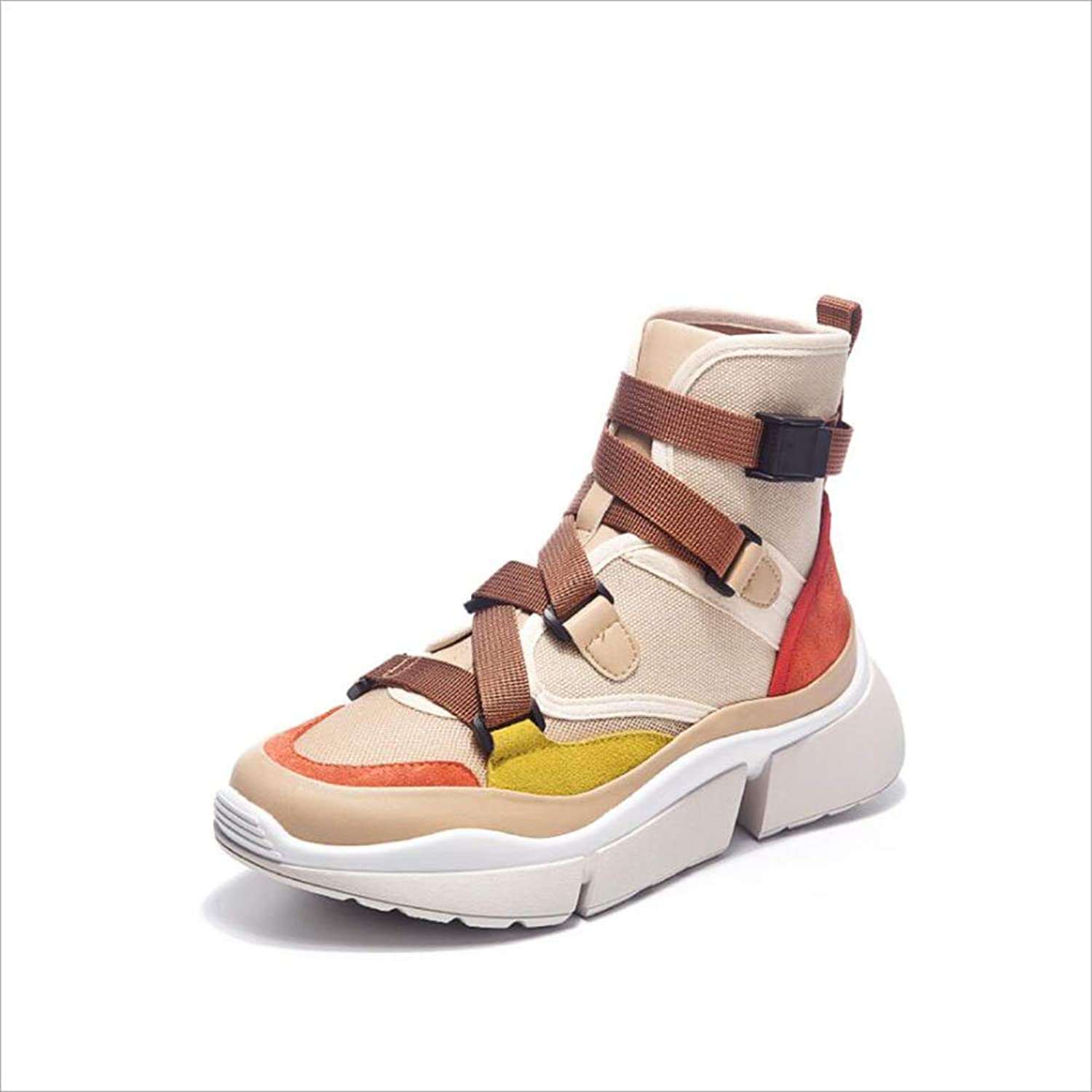 MhC Women's Sneaker, Casual Comfort Trainers shoes,Leather Damping Sneakers, Sport shoes Spring Summer Fall Camping Park