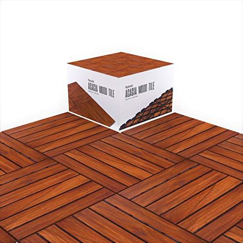 Acacia Wood Flooring Tile Wooden Interlocking...