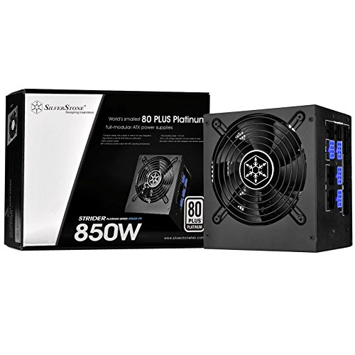 SilverStone SST-ST85F-PT - Alimentatore serie Strider Platinum, 850W 80 Plus Platinum ATX PC Power Supply, 120mm, 100% modulare