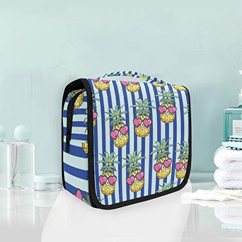 Maquillage cosmétique sac portable coeur yeux ananas voyage sac de rangement trousse de toilette pour femmes dame