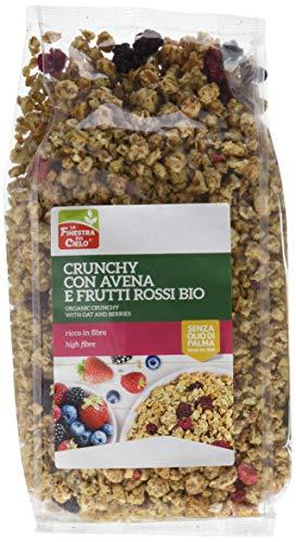 La Finestra Sul Cielo Crunchy con Avena e Frutti Rossi Bio - Pacco da 9 x 375 g