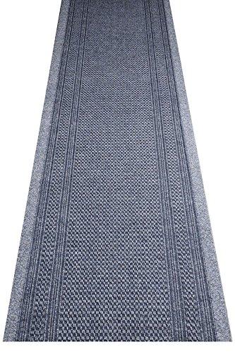 havatex Küchenteppich/Küchenmatte/Teppichläufer Arabo - und schadstoffgeprüft | robust pflegeleicht und schmutzresistent | Küche Flur Diele Veranstaltungen, Farbe:Grau, Größe:80 x 250 cm