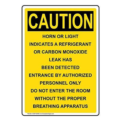 Wendana Voorzichtigheid Hoorn Of Licht Geeft Een Koelmiddel Sign, Grappige Tin Metalen Waarschuwingsborden voor Eigenschap, Aluminium, Poort Sign, Hek Teken Buiten, 8