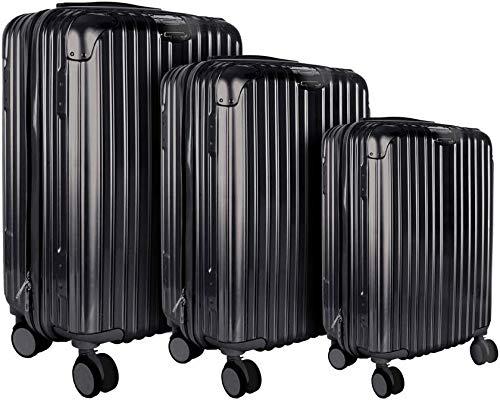 CMP Paris - Juego de 3 maletas de Londres, varios tamaños, color negro