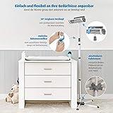 Reer Wickeltischstrahler EasyHeat Flex, Heizstrahler mit Standfuß, Wärmelampe fürs Baby, kompaktes Design weiß - 4