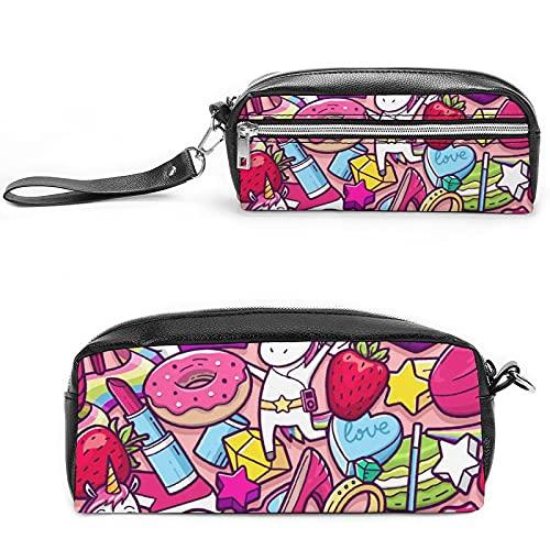 Unicornio (11), bolsa de cosméticos de viaje grande para mujer – Neceser de viaje y cosméticos bolsa de maquillaje con muchos bolsillos, Negro-estilo-9, 20*10*5.5cm,