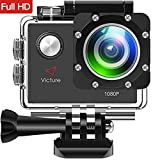 Victure Action Cam 1080P Unterwasserkamera 170 ° Weitwinkel mit Zubehör Kits