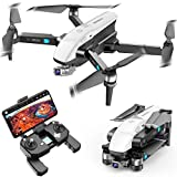 SIMREX X20 GPS Drone with 4K HD Camera 2-Axis Self stabilizing Gimbal 5G WiFi FPV Video RC Quadcopter Auto Return Home with Follow Me Altitude Hold Headless Brushless Motor Remote Control (White)