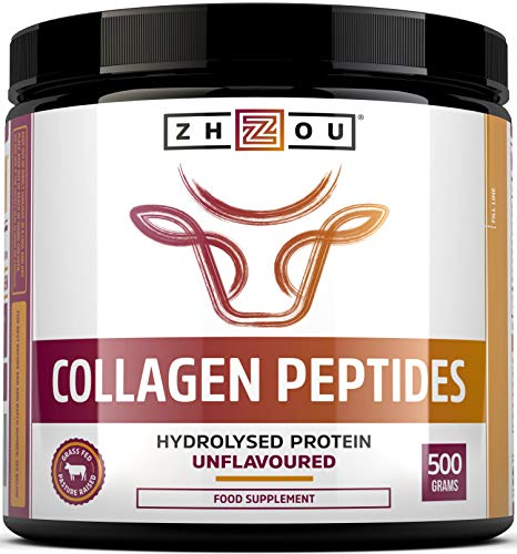 Collagen Powder 500g - Hydrolysed Collagen Peptides Powder - High Protein Bovine Collagen Supplement - Not Collagen Tablets - Grass Fed, Hormone Free - Rich in Amino Acids - for Hair, Nails & Skin