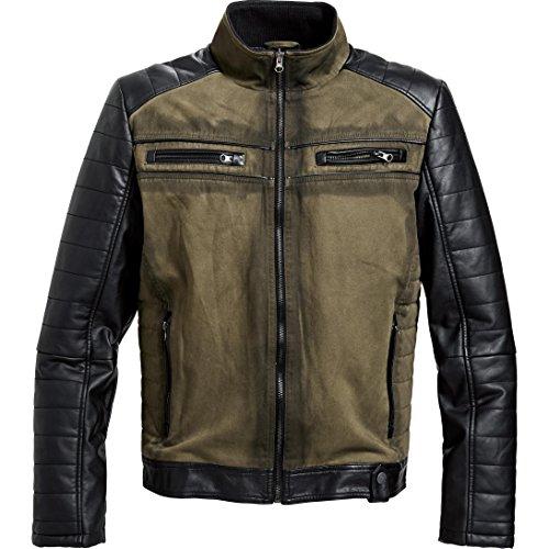 Spirit Motors Jacke Übergangsjacke Sommerjacke Outdoorjacke Freizeit-Jacke in Vintage Optik 3.0 grün XL, Herren, Casual/Fashion, Sommer, Textil