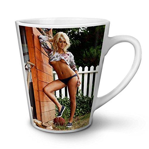 Wellcoda Heiß Mädchen Nackt Erotisch Sexy Latte Becheramerikanisch Kaffeetasse - Komfortabler Griff, Zweiseitiger Druck, robuste Keramik