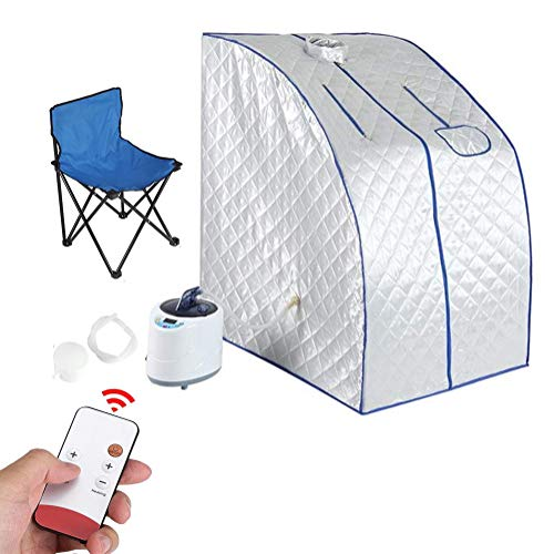 Home Portable One Person Sauna, Steam Sauna SPA Home Tent Pot Machine 2L, met externe temperatuurregeling en stoel