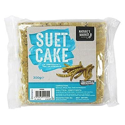 Kingfisher 300g Wild Bird Suet Fat Cake Blocks , All Seasons, All Year Round by Happy Beaks from Happy Beaks