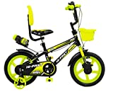 HI-FAST Children Yeah Baby Sports Cycles for 3 to 5 Years Boys and Girl (14 inch, Apple Green)