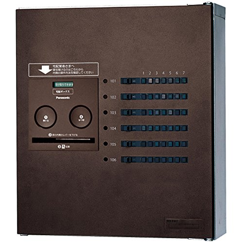 パナソニック(Panasonic) 集合住宅用宅配ボックス COMBO-Maison コンパクト 6錠 (前出し) 右開き エイジングブラウン CTNR4640RMA