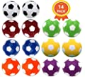 Qtimal Table Soccer Foosballs Replacement Balls, Mini Colorful 36mm Official Tabletop Game Ball - Set of 14 by Qtimal