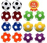 Qtimal Table Soccer Foosballs Replacement Balls, Mini Colorful 36mm...