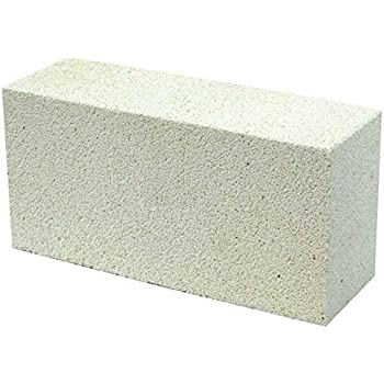 Forges HFK-25 Insulating FireBrick 2500F 2.5 x 4.5 x 9 IFB Box of 3 Fire Bricks for Fireplaces Kilns Pizza Ovens
