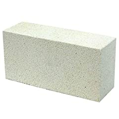 """Insulating Fire Bricks - 9"""" x 4.5"""" x 2.5"""" (Inch) Material Composition: Alumina & Silica Withstands Up to 2000° F Numerous Applications - Blacksmithing, Oven Construction, Stove Insulation, Glass Making, Fire Places, Clay Pottery Firing, Smelting, & F..."""
