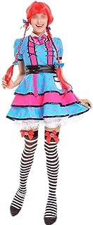 CXUNKK オクトーバーフェストビールの女の子の制服ハロウィンサーカスのピエロカラー人形の服