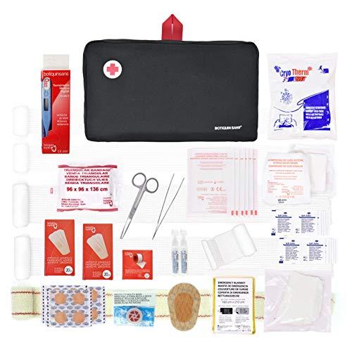 Erste-Hilfe-Set Prime mit 120 Artikel (digitalthermometer, antiseptische Lösung, physiologischen serums, sofort-kühlakku, rettungsdecke.)