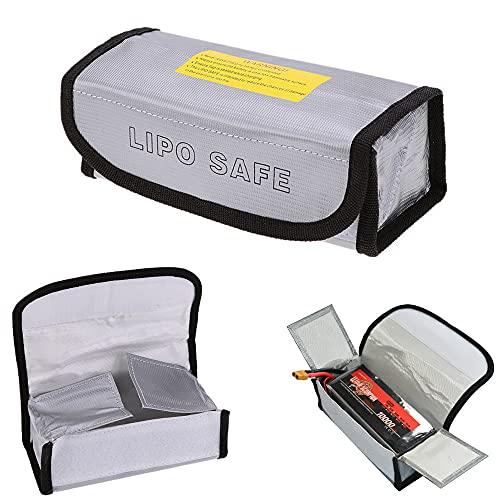 SHUGJAN Bolsa bolsa a prueba de fuego Lipo seguridad de la batería Lipo Guardia carga de la batería Saco protección de la batería Li-Po Bolsa for impermeable de la batería Piezas de montaje RC