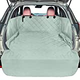 SUV Cargo Liner for Dogs, F-color Waterproof Pet Cargo Cover with Side Flap Protector Dog Seat Cover Mat for SUVs Sedans Vans with Bumper Flap, Non-Slip, Large Size Universal Fit, Grey