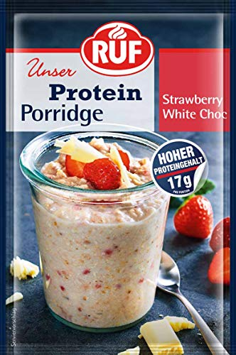 RUF Lebensmittelwerk Protein Porridge Strawberry White Chocolate, 13er Pack (13 x 70 g)