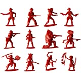 George Jimmy 60 Pcs Toy Soldiers Gifts /Cars/Trucks /Tractors/Toy Guns Models -Red 1:36