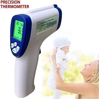 Medidor de Temperatura Corporal infrarrojo IR de term/ómetro infrarrojo sin Contacto Lectura instant/ánea con Alarma Funci/ón LCD WIVION Pistola de term/ómetro de Frente