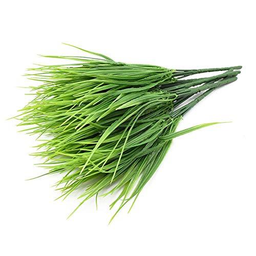 7 tenedores/paquete de plantas artificiales verde hierba flores de plástico boda primavera verano sala de estar Navidad decoración del hogar