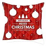 RK-HYTQWR Merry Christmas Throw Pillow Case Gafas Divertidas Funda de cojín de sofá de Papá Noel, 31 Funda de Almohada de impresión Digital de Navidad, 31