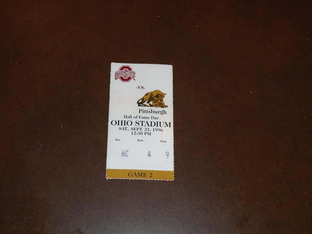 1996 PITT Ranking integrated 1st place AT OFFer OHIO STATE STUB FOOTBALL TICKET