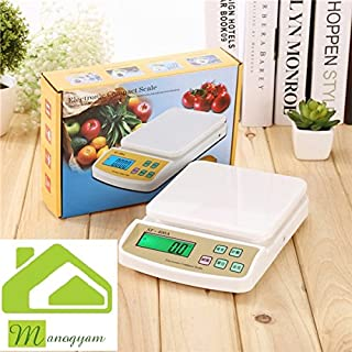 143ebd717 AMAZON. MANOGYAM Electronic Kitchen Digital Weighing Scale (SF-400A) Machine  for Kitchen with LED