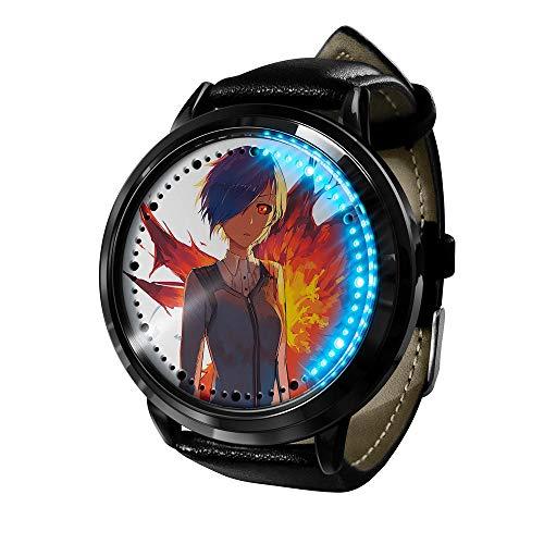 Reloj Tokyo Ghoul Reloj Pantalla táctil LED Impermeable Luz Digital Reloj Reloj de Pulsera Unisex Cosplay Regalo Nuevos Relojes de Pulsera niños-A9