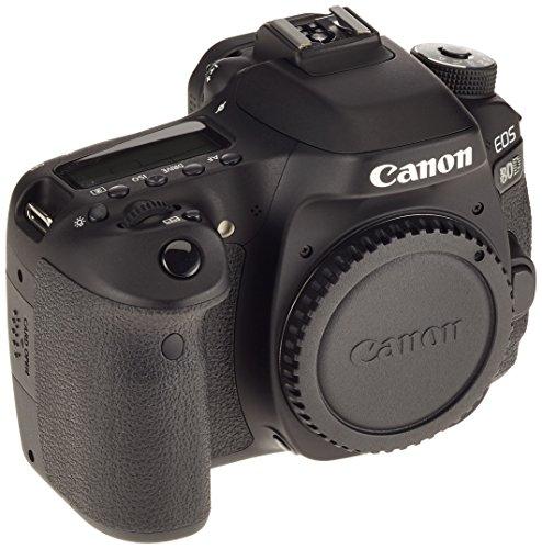 Canon EOS 80D DSLR Digitalkamera (24,2 Megapixel, 7,7 cm (3 Zoll) Display, APS-C Dual Pixel CMOS AF Sensor, 45 AF-Kreuzsensoren, DIGIC 6 Bildprozessor, NFC und WLAN, Full-HD) Gehäuse Body schwarz