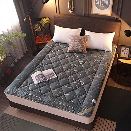 YUMUO Japanese Futon Mattress, Thicken Tatami Mattress Foldable Sleeping Tatami Floor Mat Breathable Hypoallergenic Single Double Student Mattress Topper-f 135x200cm(53x79inch)