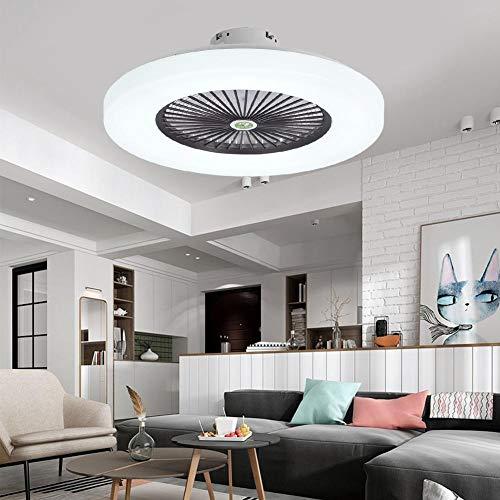 【𝐒𝐞𝐦𝐚𝐧𝐚 𝐒𝐚𝐧𝐭𝐚】 Luz de Ventilador de Techo, 23 Pulgadas 12 Tipos Silencioso Control Remoto Ventilador de Techo Lámpara LED Atenuación Velocidad del Viento Ajustable para Dormitorio Sala de E