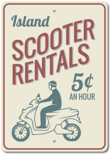 Señal de alquiler de patines Inga Scooter Rentals de 20,3 x 30,5...