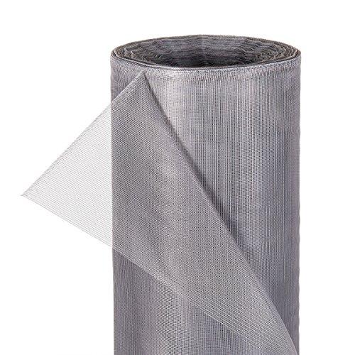 HaGa® Insektennetz Moskitonetz Fliegennetz in 180cm Breite grau (Meterware)