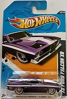 Hot Wheels 73 Ford Falcon XB Spectraflame Purple Super Treasure Hunt 2012 Muscle Mania Ford Card 120