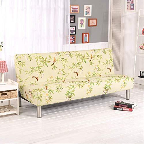 SWJM Funda para sofá de 1 Pieza Fundas Antideslizantes elásticas Antideslizantes para Muebles Fundas Antideslizantes Sin apoyabrazos Adecuado para Longitud 160 a 180 cm D185 a 200 cm Color 20